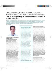 Clínica de Glândulas Salivares - entrevista à Saúde Oral