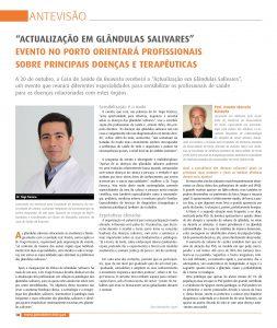 Actualização em Glândulas Salivares - antevisão do Jornal Dentistry